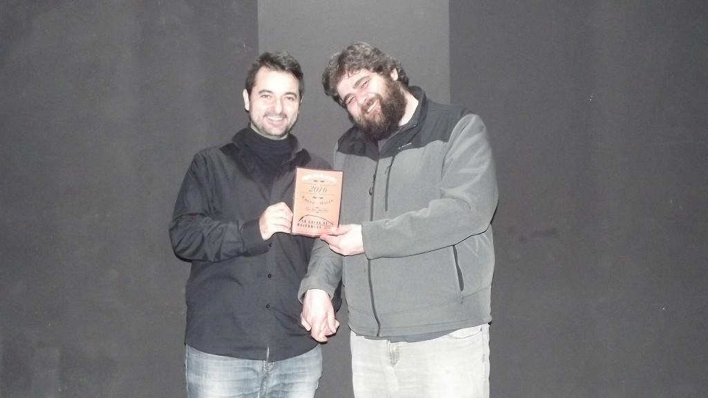 Pedro Albadalejo y Matías Antón posan con su programación