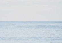 hombre bañándose en la playa de Torrevieja