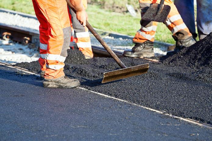 Obras de asfaltado en Torrevieja