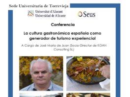Cartel Conferencia José María de Juan en Torrevieja